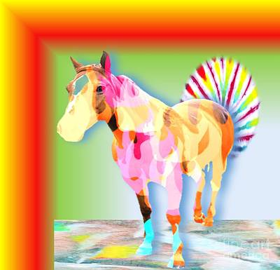 Digital Art - Fancy Horse by Belinda Threeths
