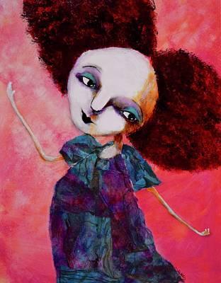 Wall Art - Mixed Media - Fancy Nancy by Jen Walls