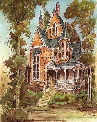 Fancy Old House 32 Art Print by Aurelio Menna