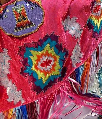 Memorial Day Drawing - Fancy Shawl Dancer Detail by Tim McCarthy