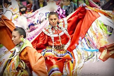Photograph - Fancy Shawl Dancers by Clarice Lakota