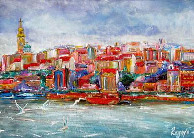 Serbia Painting - Fancy Town by Vladimir Regoje