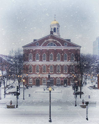 Photograph - Faneuil Hall Holidays by Joann Vitali