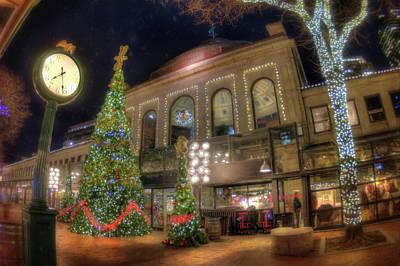 Photograph - Faneuil Hall Marketplace - Quincy Market - Boston by Joann Vitali