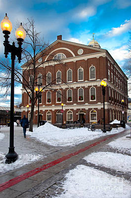 Photograph - Faneuil Hall Winter by Brian Jannsen