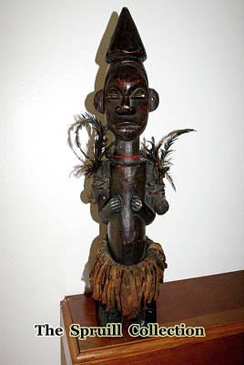 Sculpture - Fang Tribal Fetish Sculpture by Everett Spruill