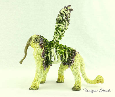 Fangorus Polymer Clay Fantasy Sculpture Original by Przemyslaw Stanuch