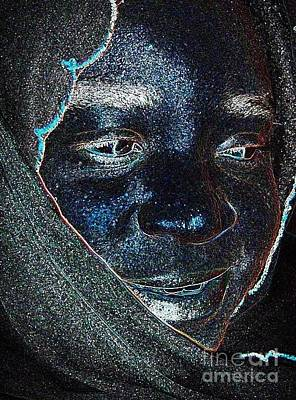 Digital Art - Fania Black by Fania Simon