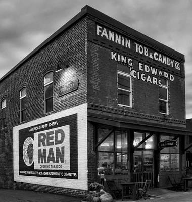Photograph - Fannin Tobacco Company In Black And White by Greg Mimbs