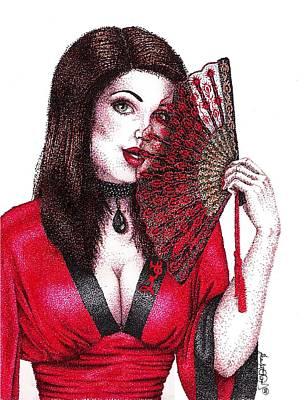 Fanning Flirtation Art Print