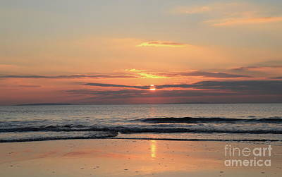 Photograph - Fanore Sunset 3 by Peter Skelton