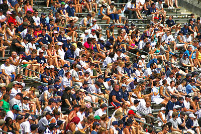 Yankee Stadium Bleachers Photograph - Fans by Mitch Cat