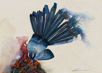 Flycatcher Painting - Fantail Flycatcher by Francisco Ventura Jr