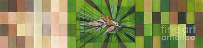 Painting - Fantail Palm Plateau by Kerryn Madsen - Pietsch