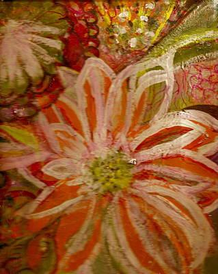 Fantasia With Orange And White Art Print by Anne-Elizabeth Whiteway