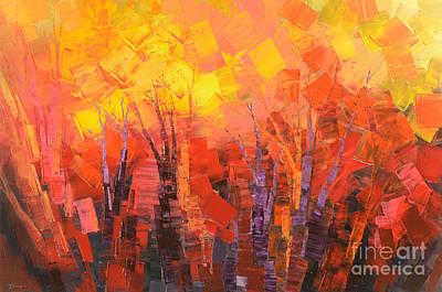 Painting - Fantastic Fire by Tatiana Iliina