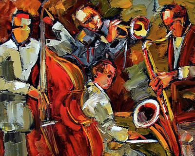 Saxophone Painting - Fantastic Four by Debra Hurd