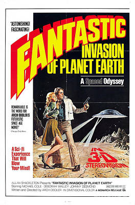 Painting - Fantastic Invasion Of Planet Earth 1966 Movie Poster by R Muirhead Art
