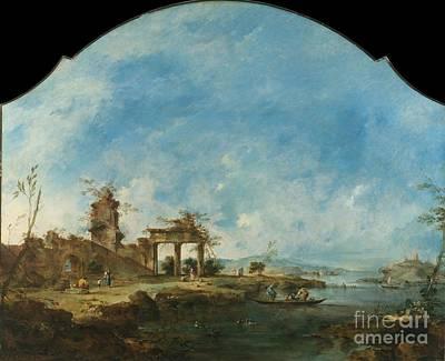 Francesco Guardi Painting - Fantastic Landscape by Celestial Images