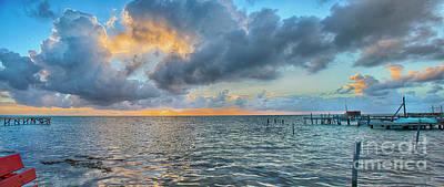 Photograph - Fantastic Sunrise Panorama by David Zanzinger