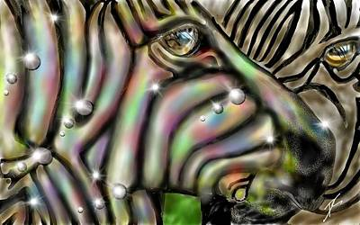 Digital Art - Fantastic Zebra by Darren Cannell