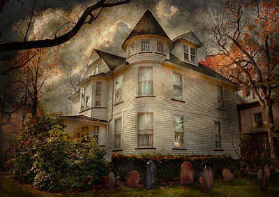 Photograph - Fantasy - Haunted - The Caretakers House by Mike Savad