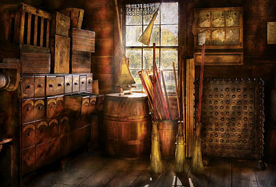 Photograph - Fantasy - The Broom Maker by Mike Savad