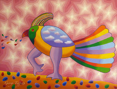 Painting - Fantasy Bird by George Tuffy