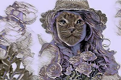 Queen - Fantasy Cat Art 15 by Artful Oasis