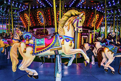 Fantasy Carrousel Horse Ride Art Print