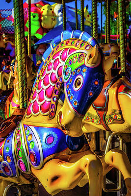 Fantasy Carrousel Ride Art Print