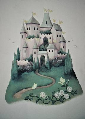 Painting - Fantasy Castle by Suzn Art Memorial