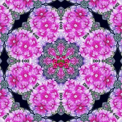 Fantasy Cherry Flower Mandala Pop Art  Art Print