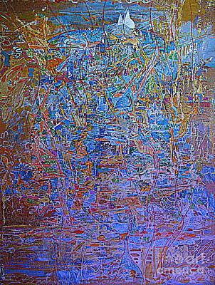 Colored Pencil Abstract Mixed Media - Fantasy City 2 by Nancy Kane Chapman