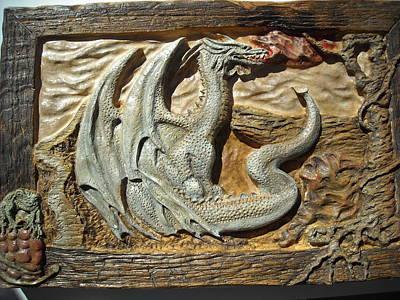Fantasy Dragon Art Print by Doris Lindsey