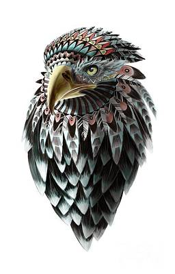 Falcon Painting - Fantasy Eagle by Sassan Filsoof