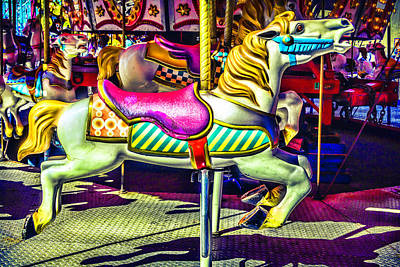 Fantasy Fair Horse Ride Art Print
