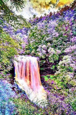 Digital Art - Fantasy Falls by John Haldane