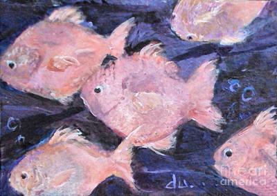 Painting - Fantasy Fish by Diane Ursin