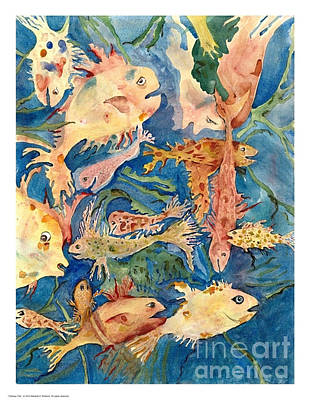 Painting - Fantasy Fish by Marlene Robbins