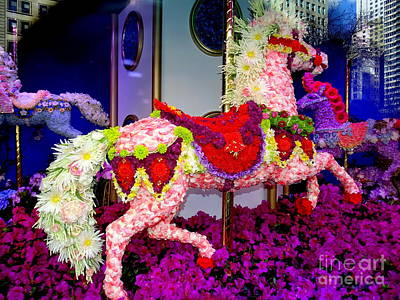 Photograph - Fantasy Floral Carousel by Ed Weidman
