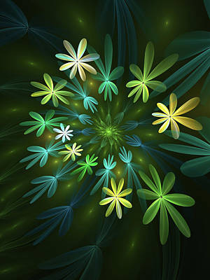 Digital Art - Fantasy Flowers Fractal by Gabiw Art