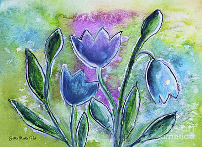 Painting - Fantasy Flowers by Jutta Maria Pusl