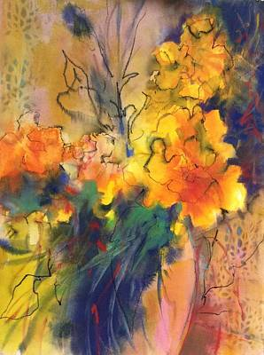 Mixed Media - Fantasy Flowers by Karen Ann Patton