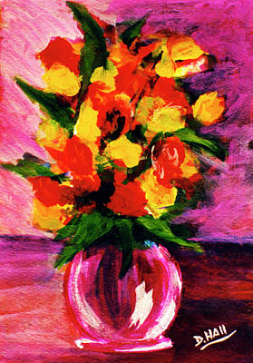 Fantasy Flowers Still Life #118, Art Print by Donald k Hall