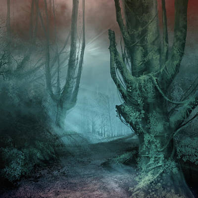 Digital Art - Fantasy Forest 2 by Bekim Art