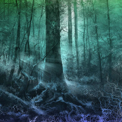 Digital Art - Fantasy Forest 3 by Bekim Art
