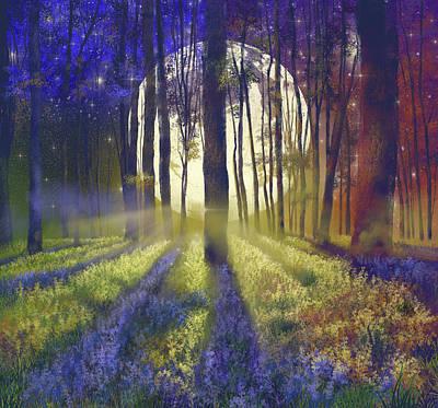 Surrealism Digital Art - Fantasy Forest 4 by Bekim M