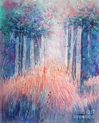 Painting - Fantasy Forest by Rebecca Davis