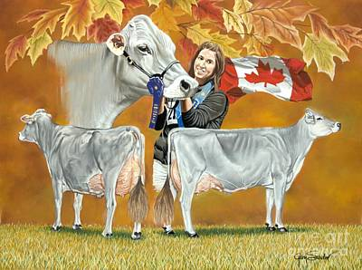 Brown Swiss Painting - Fantasy Girl by Gary Sauder
